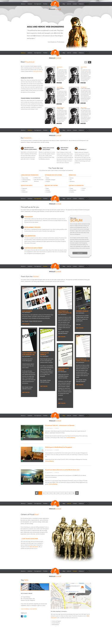 Proudcloud Website version 2 by Geobarney