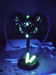 necron wraith under black light by Tathoj