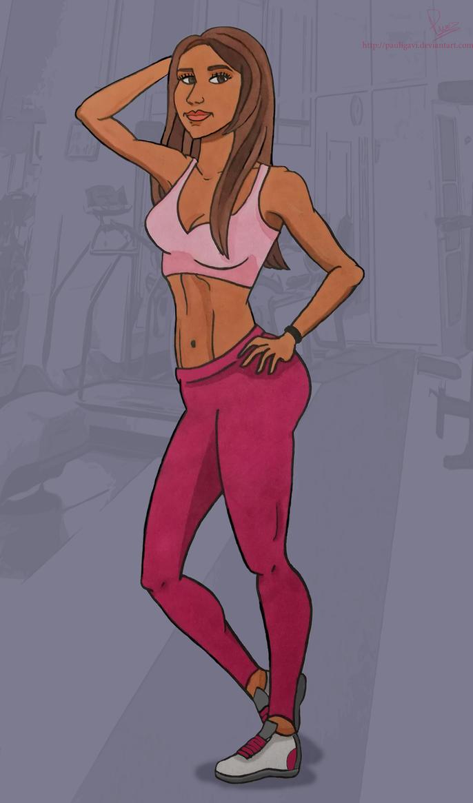 Me Fitness Cartoon by PauliGaVi