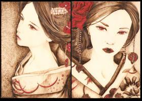 Geisha Beauties by Aliehs