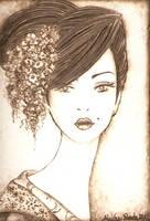 Geisha Trading Card by Aliehs