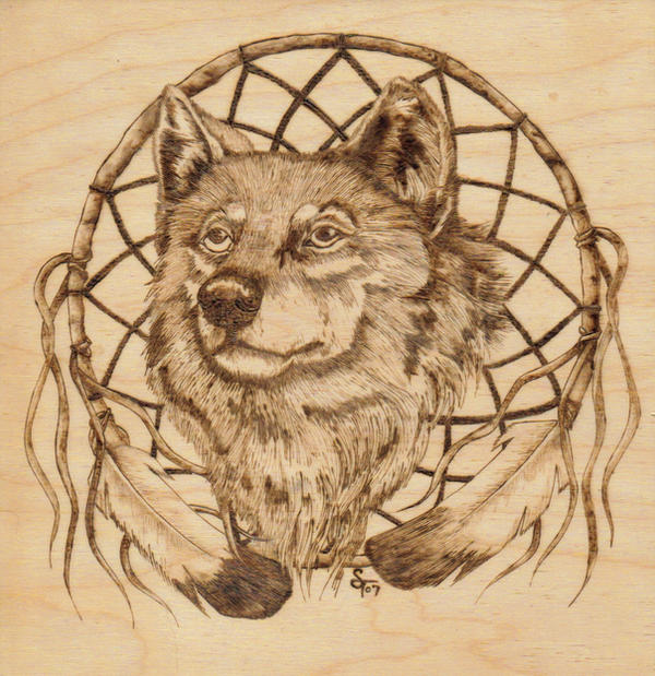Woodburning Wolf By Aliehs On Deviantart