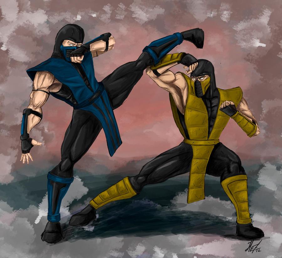 Скорпион и саб зиро смешные картинки, новогодняя