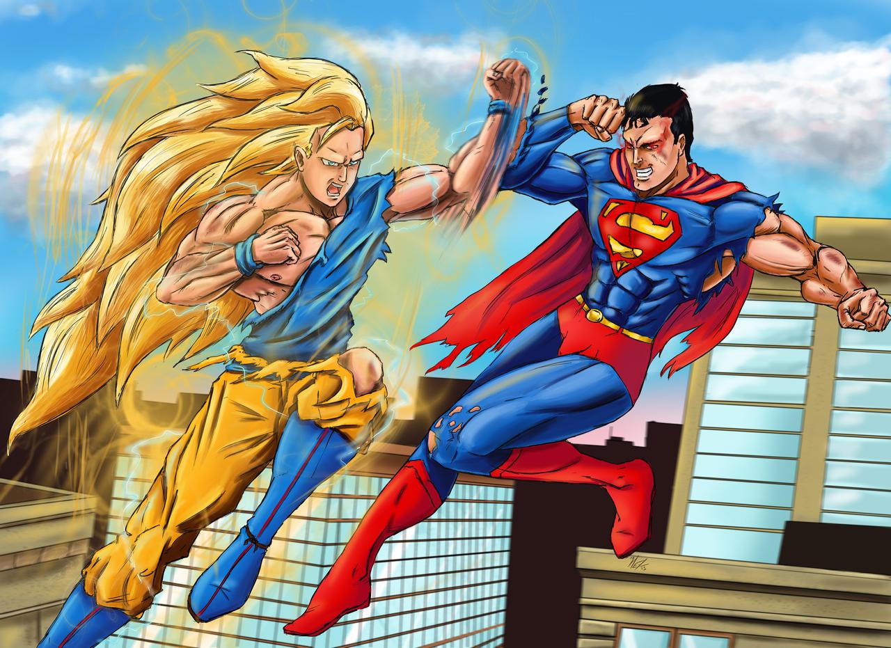 Goku vs Superman by AmenoosaGoku Vs Superman Science