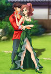Commission:  Makoto x Ranma by Amenoosa