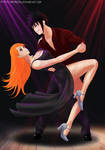 Menma x Orihime - dance by Amenoosa