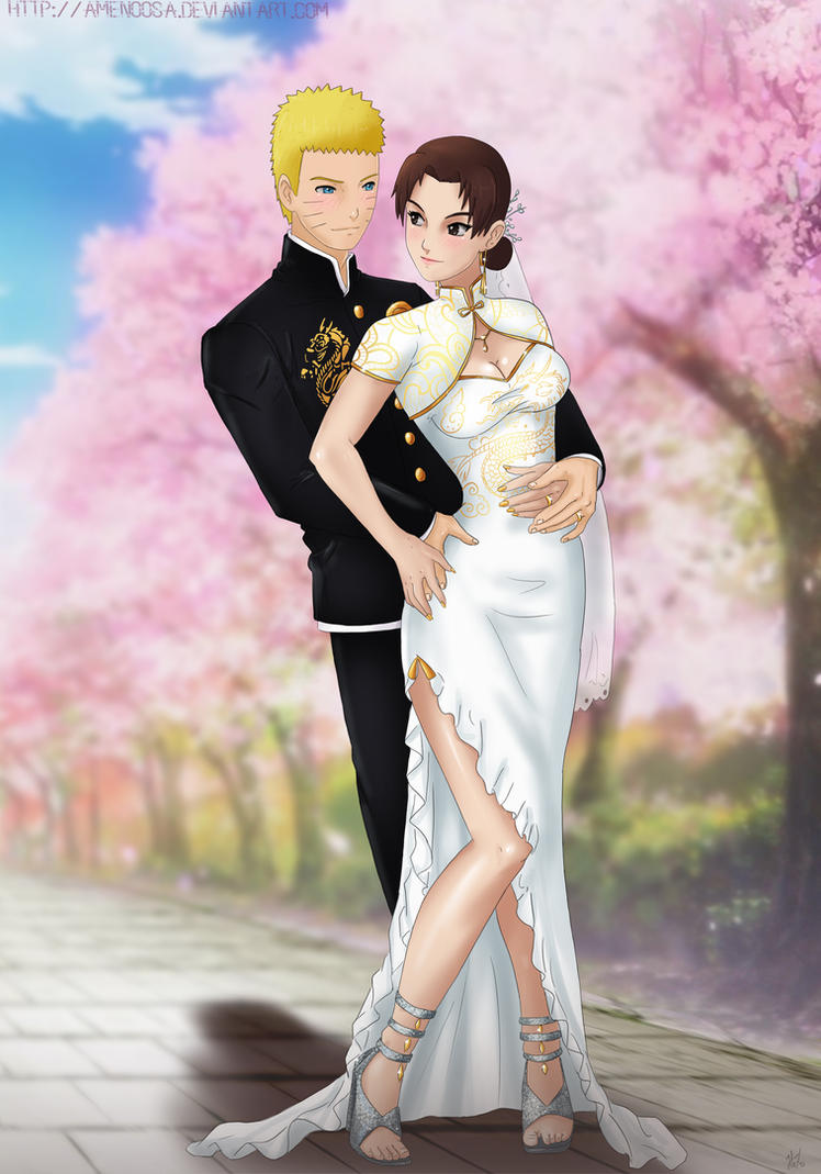 Commission: Naruto x Tenten - wedding by Amenoosa