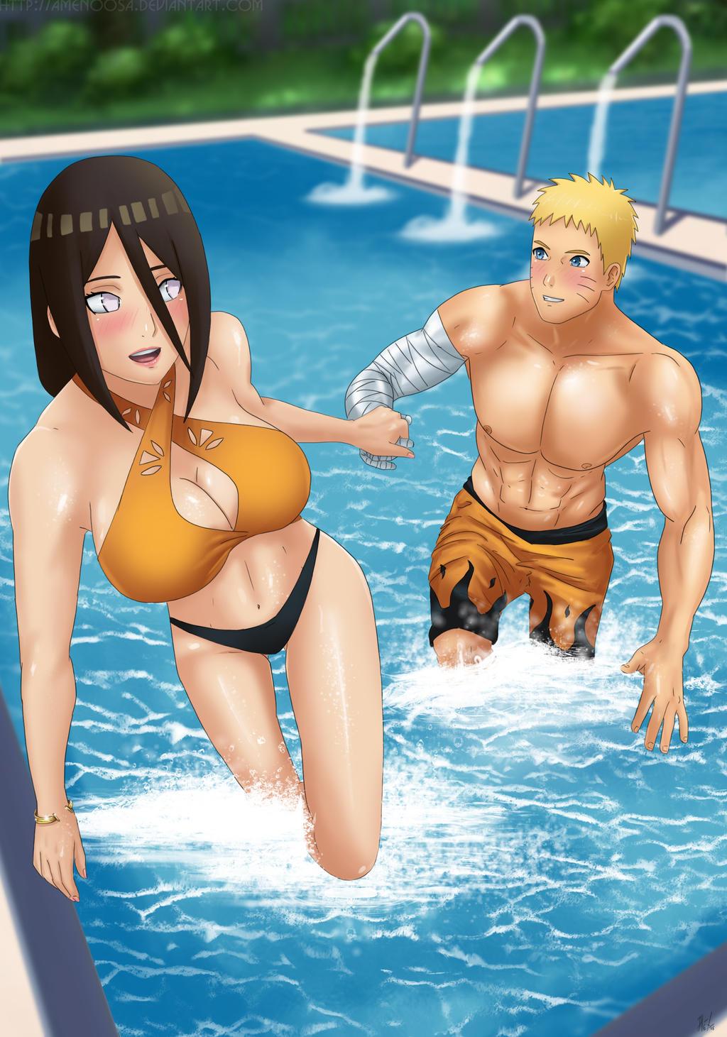 Commission: Naruto x Hanabi - Come with me by Amenoosa