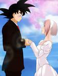 Goku x Sakura by Amenoosa