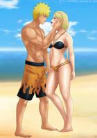 Commission: Naruto x Yugito by Amenoosa