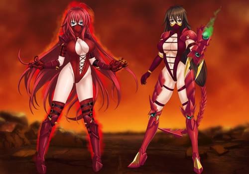 Commission: DXD Crimson Dragon Queens
