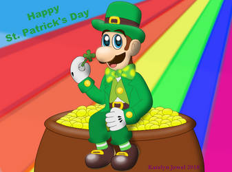 St. Patrick's Day Luigi by PPG-Katelyn