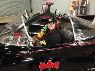 Luigi and Batgirl in the '60s Batmobile 2 by PPG-Katelyn
