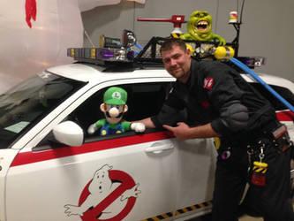 Luigi in Ecto-1 2 by PPG-Katelyn
