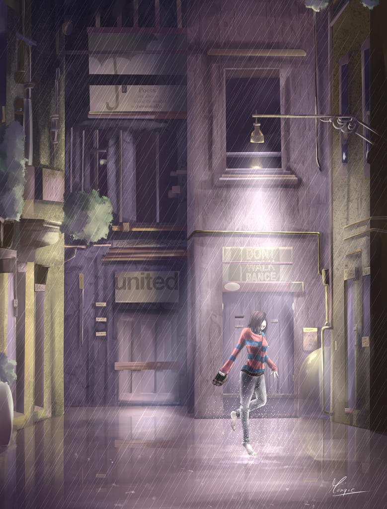 dancing in the rain by 0Mini
