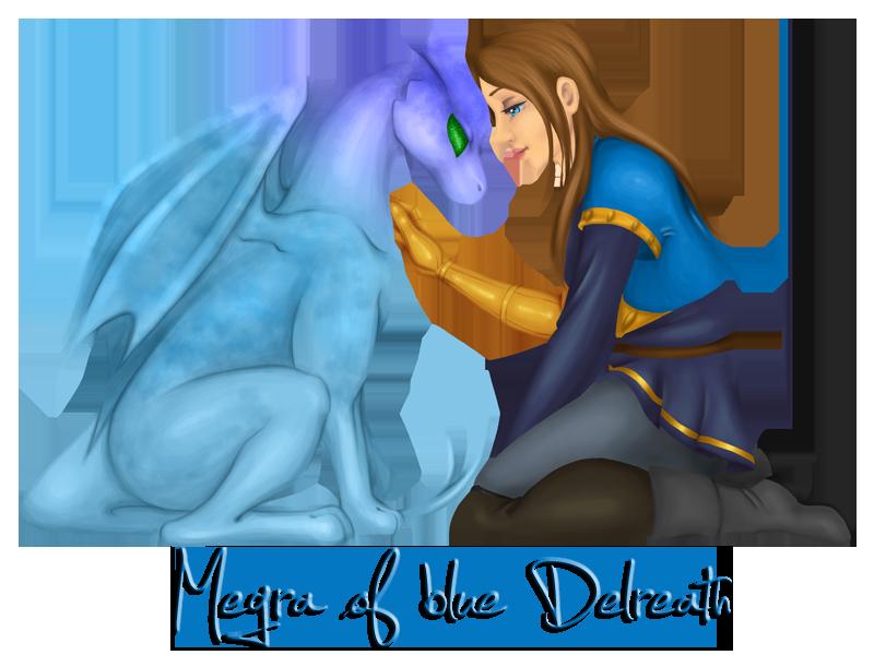 Megra of blue Delreath by VagabondSentinel