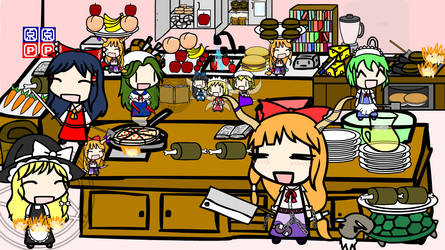 Cooking with the Hakurei Family