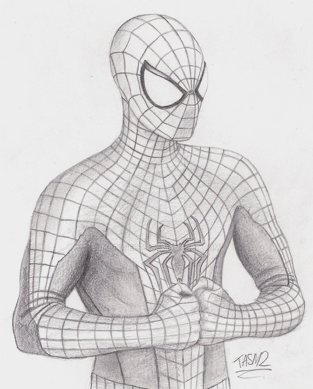 The amazing spider man 2 spidey sketch by mprojects