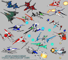 Shmup Fighters ToonShading Ver by Tarrow100