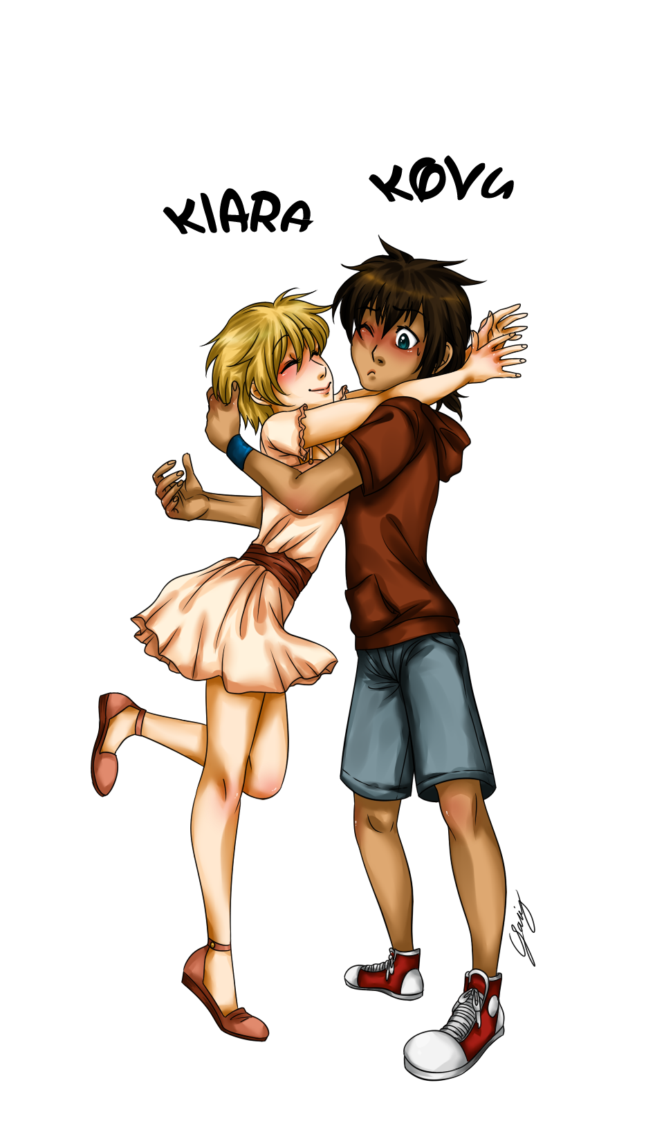 Human Kiara and Kovu by x-Lilou-chan-x on DeviantArt