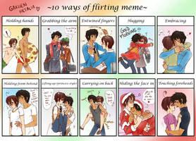 Spamano - 10 ways of flirting meme by x-Lilou-chan-x