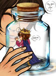 Lovino in a bottle meme 3