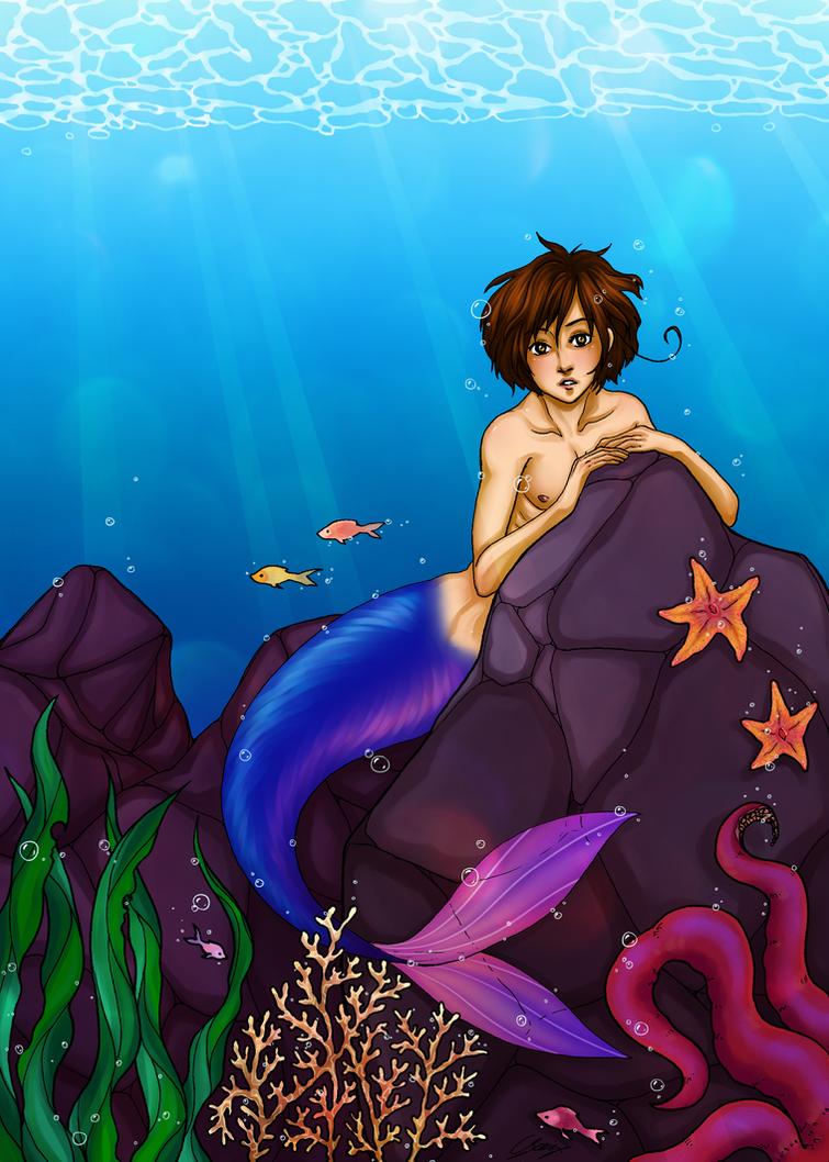 The Little Merman by x-Lilou-chan-x
