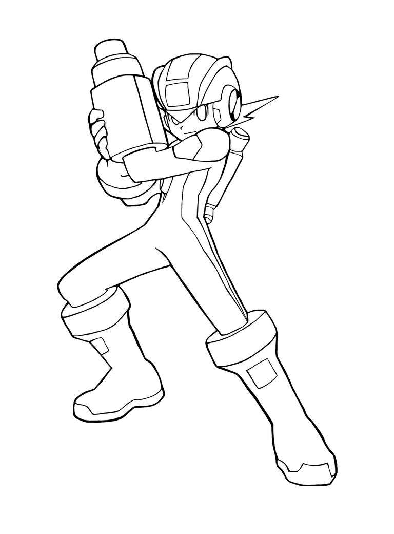 Megaman x coloring pages - Rockman Exe By Rockman Forte By Ala Club