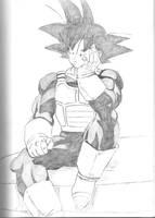 Goku in Saiya-jin armor by Gokusiek