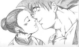 Goku and Chichi Valentines Day by Gokusiek
