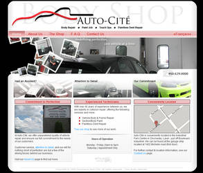 Auto Cite Body Shop website by ArchaicDarkness
