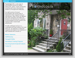 Psychologia Website Concept / Home Page by ArchaicDarkness