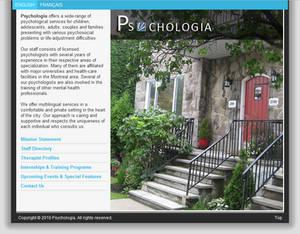 Psychologia Website Concept / Home Page