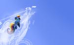 Rainbow Flight Wallpaper-Version