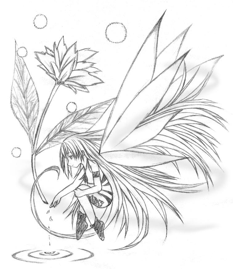 Drawing fairy flowers pictures