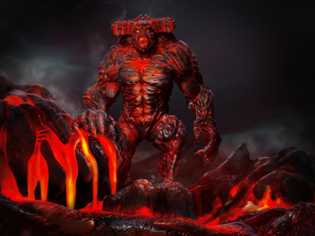 Lava Demon By Danwhitedesigns On Deviantart