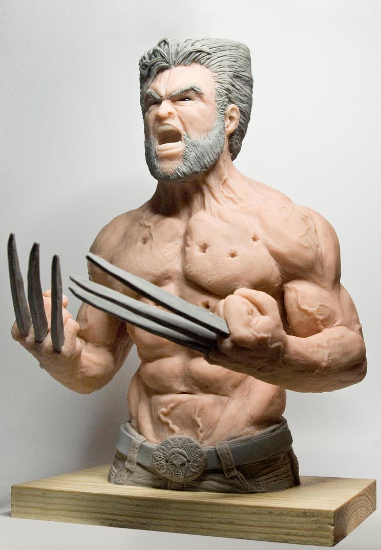Wolverine Sculpture by Danwhitedesigns