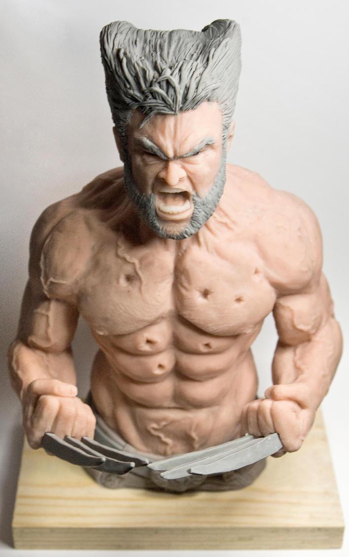 Wolverine Sculpture 2 by Danwhitedesigns