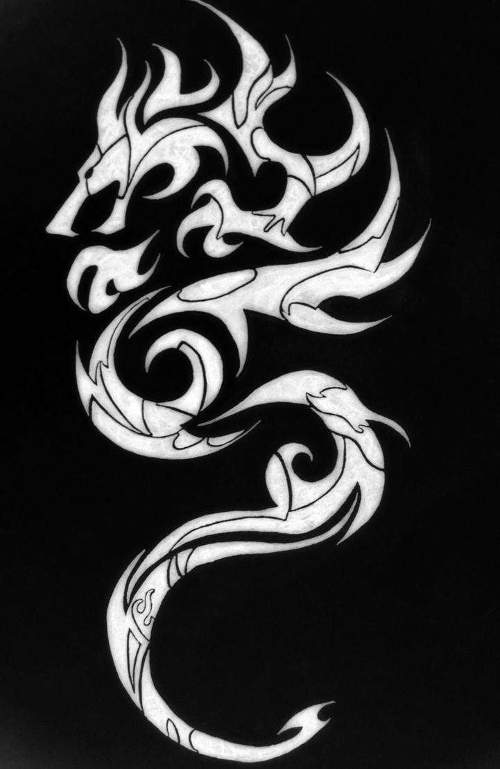 tribal dragon by fluxmagnet on deviantart