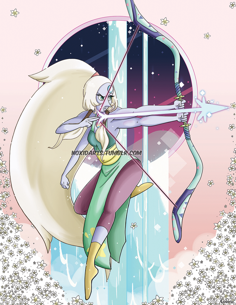 Another Steven Universe fanart. I adore the Opal fusion. Def going to try and do pieces like this for the other fusions. Please do not repost on Tumblr, reblog instead  If you want t...