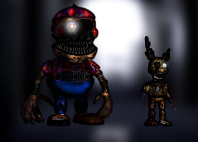 Plushtrap Vs Nightmares By Maximumplayer On Deviantart