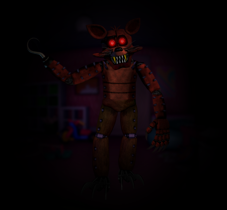 FNAC3 Styled Foxy (Monster Foxy) by Zacmariozero on DeviantArt