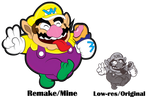 Adobe Illustrator: Wario High-Res Trace