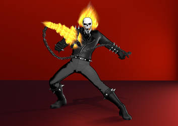 3D Render: Toon/Anime Shaded Ghost Rider
