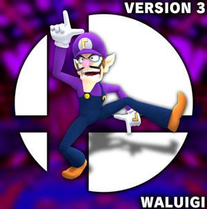 3D Render Waluigi in Smash Version 3