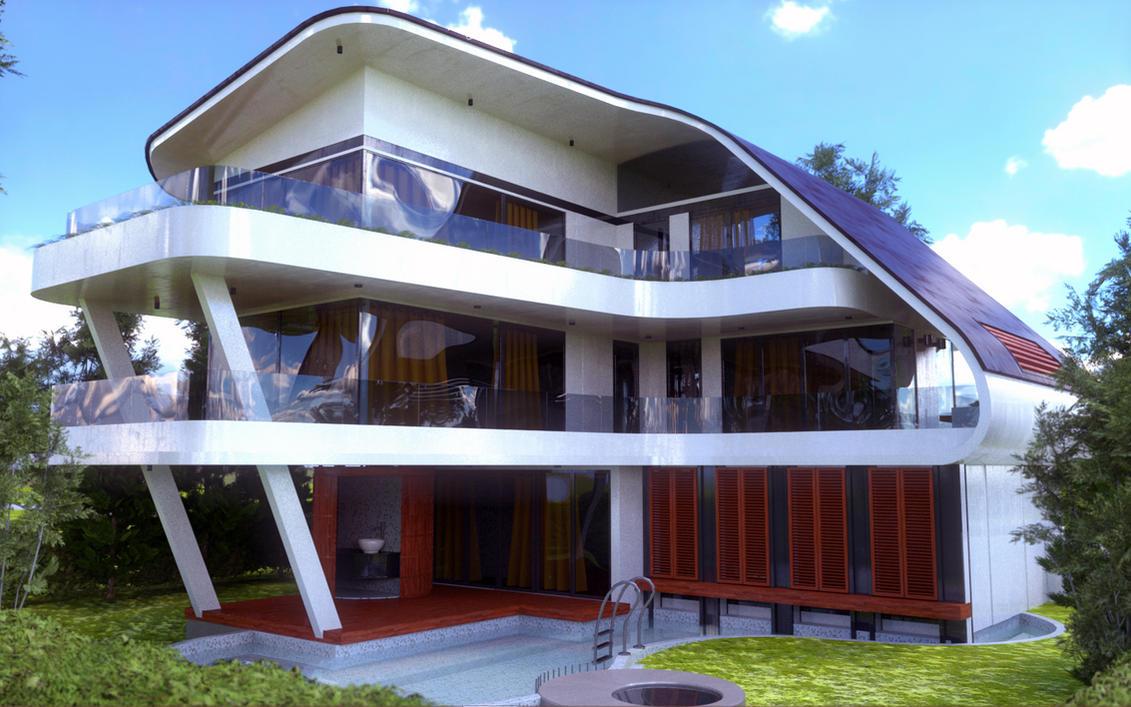 Futuristic House Retro Futuristic Houseevexoian On Deviantart