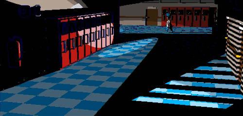 8 Bit Style 3D Image: Mute Creek School by Evexoian