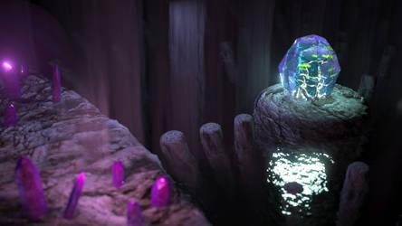 Tree Crystal Far by Evexoian