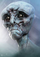 Un-used  head alien design for Falling Skies by Baizilla