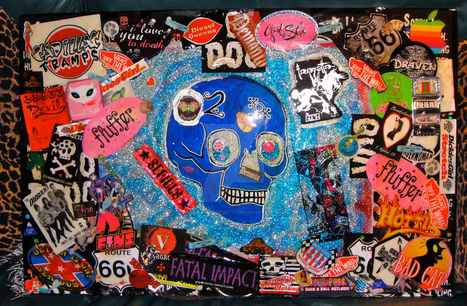 skull 3d collage table top w repurposed tripod leg by vikinggoddess777 on deviantart. Black Bedroom Furniture Sets. Home Design Ideas